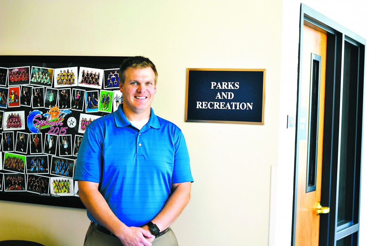 Reid Huttunen took over as East Grand Forks' parks and recreation director at the end of September. photo by Serianna Henkel