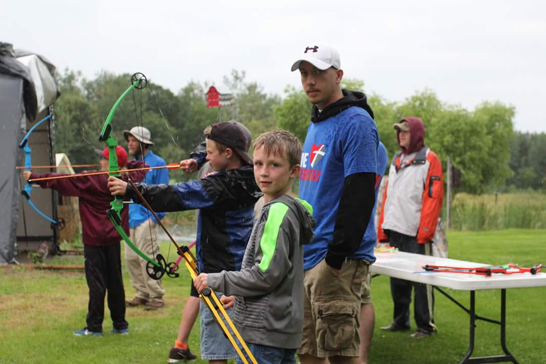 "Youth experience archery at the Keeping Kids in the Outdoors Field Day this past July with ""On Target for Life"" National Archery in the Schools Program equipment donated by MDHA to area schools. Now at 240 current members, the NRR MDHA began on September 15, 1986 to provide opportunities for all, especially youth, to enjoy the Minnesota deer hunting culture for many future years. (submitted photo)"