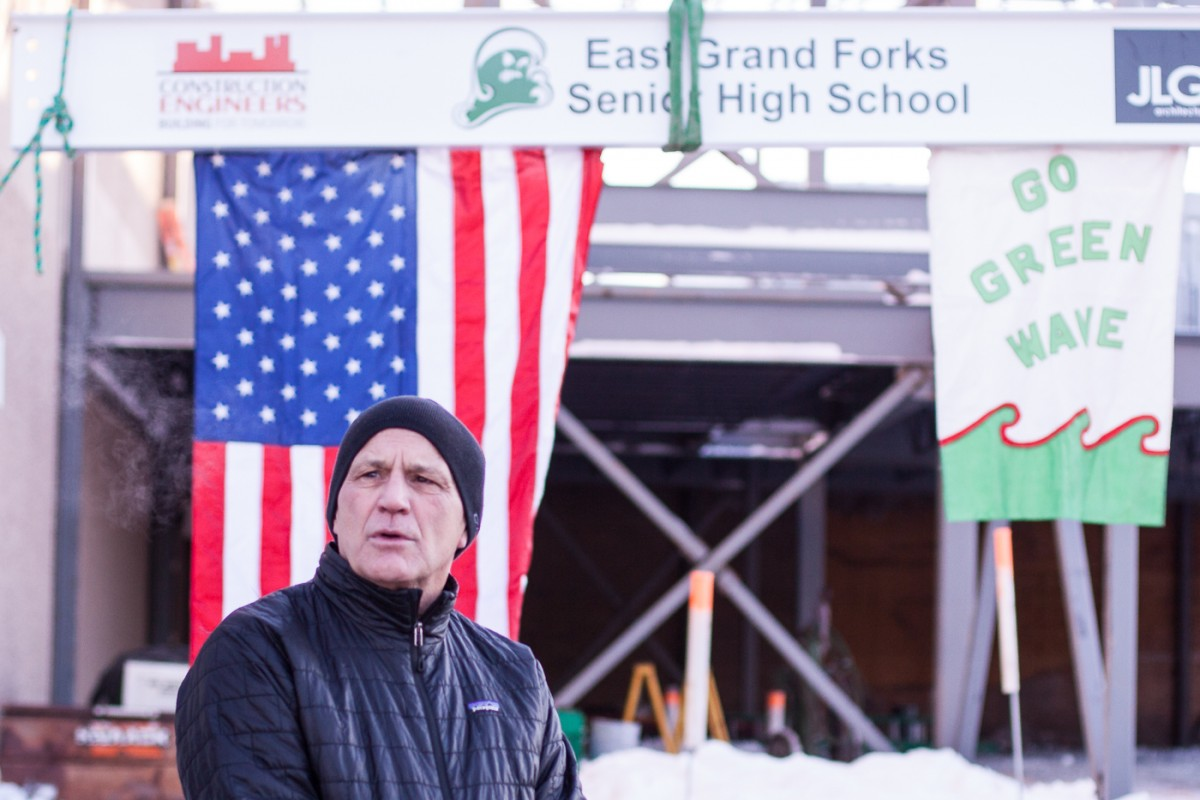 Tony Palmiscno, ISD 595 School Board Chair, Thanks the citizens of East Grand Forks