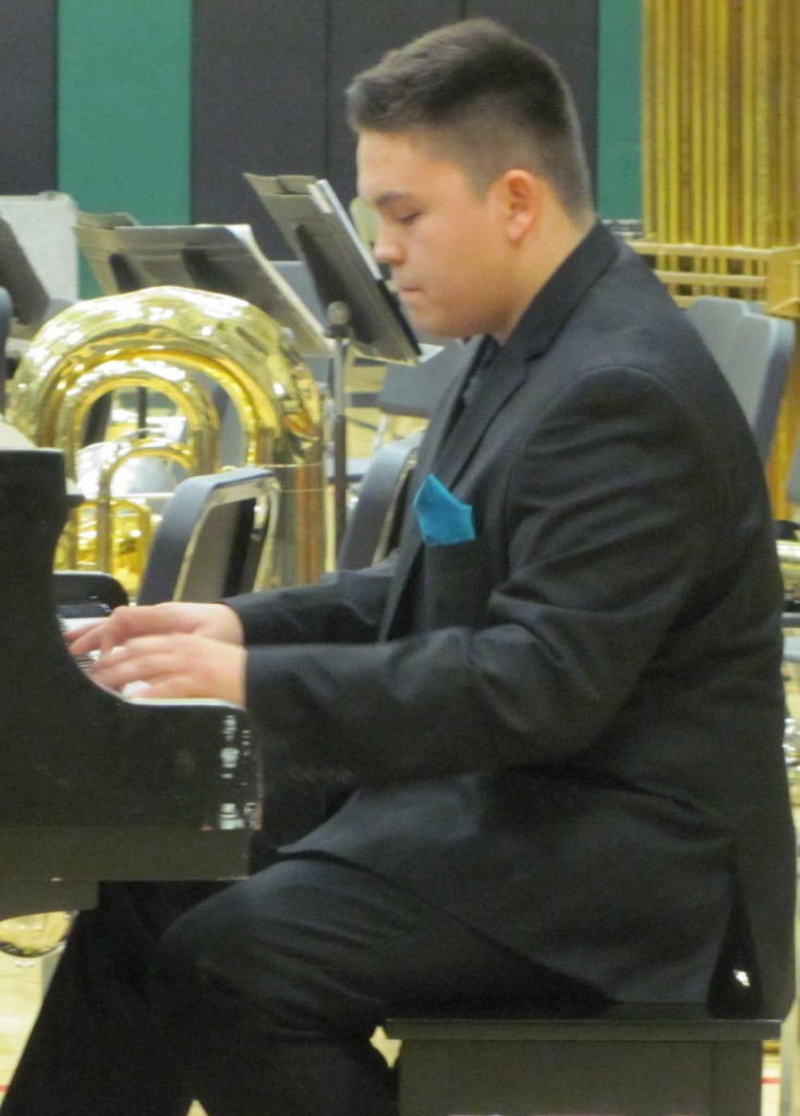 "GMR senior Trinity Clark is shown presenting his piano composition, ""Hope"". (photo by Mavis Gonshorowski)"