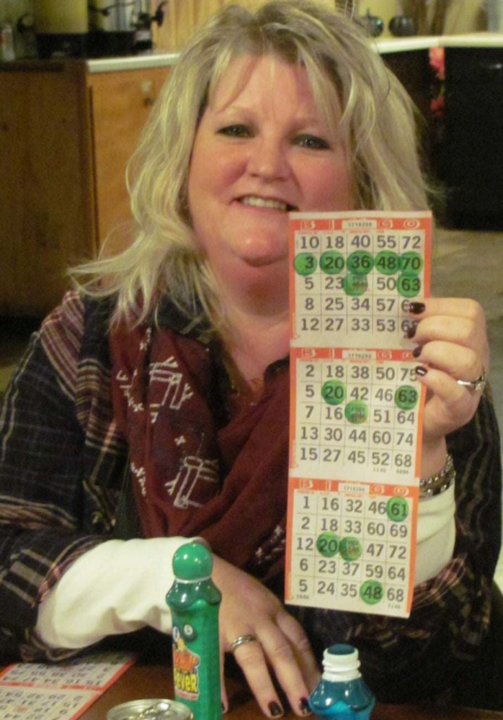 "Local resident Wanda Dallager was among the lucky ones who yelled, ""Bingo"", on Friday night. February 17, at the Greenbush American Legion."