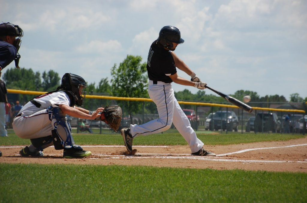 Derek Knutson rips the ball for single as part of a two-run Gator first inning during the Gators 6-3 loss to the Fosston Greyhounds in the Section 8A Championship game in Thief River Falls on June 8.