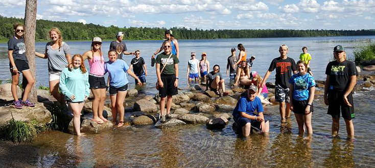 """Testing the waters"" in the MIssissippi River at Itasca on June 14. (submitted photo)"