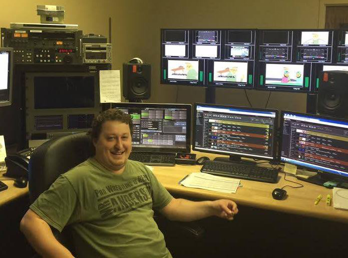 Shawn Slawson, former local Greenbush resident, is now employed as a master controller at KVEN-TV in Rapid City, S.D. (submitted photo)