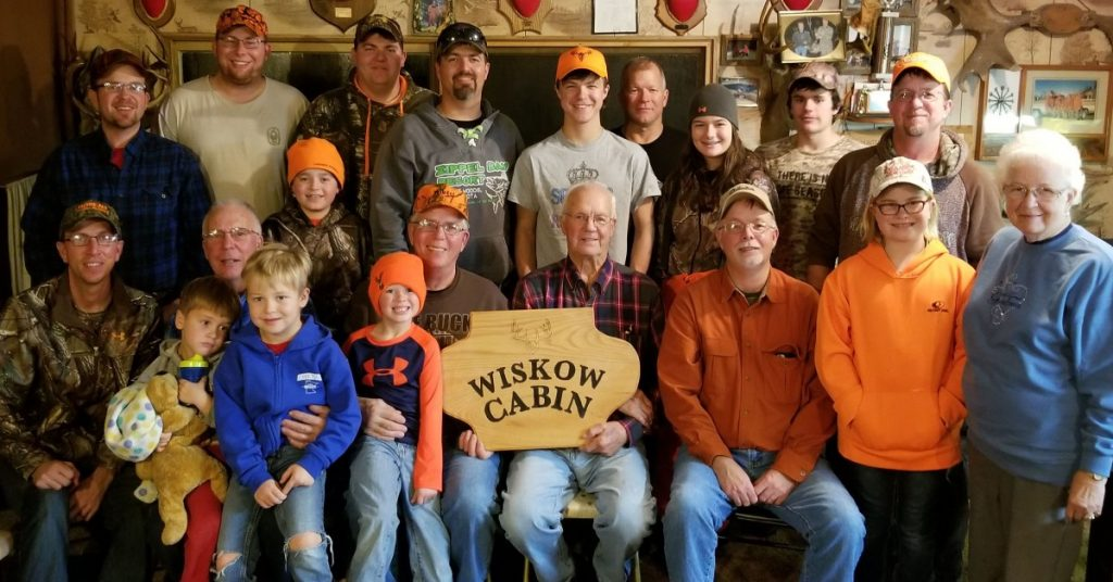 Four generations of the Wiskow family had the privilege of gathering together for another deer season at the Wiskow hunting cabin. (submitted photo)