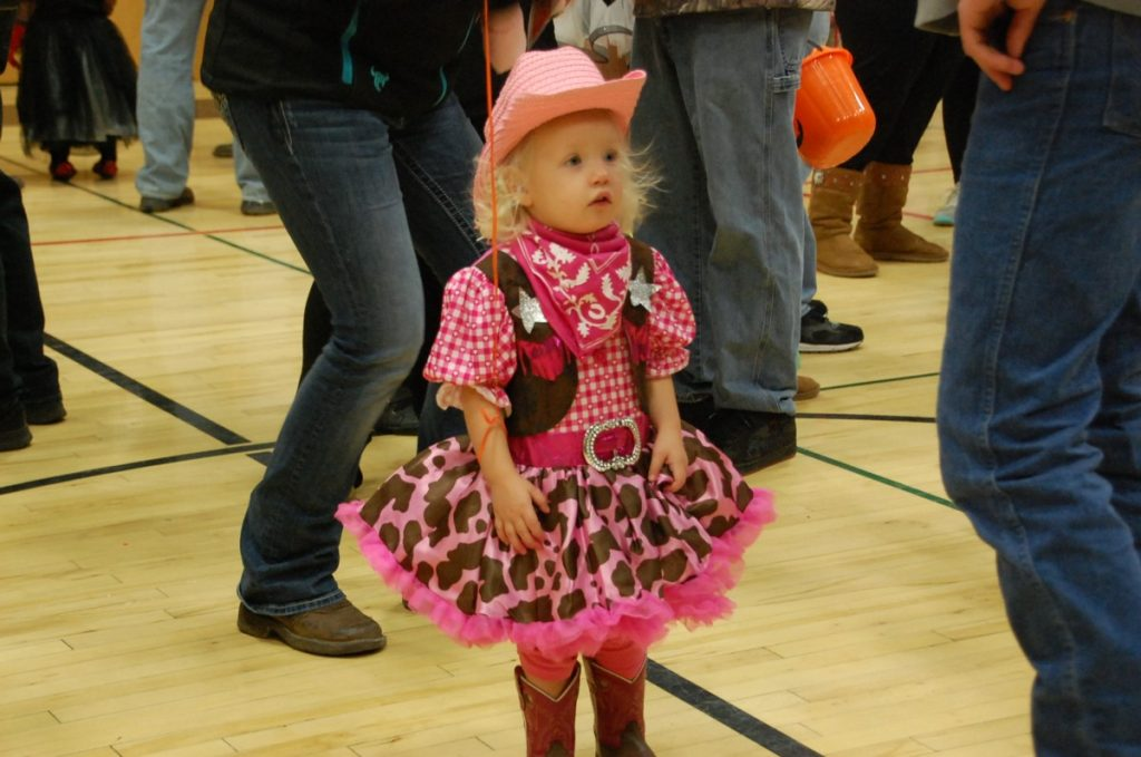 Kaya Hamness came dressed as a cowgirl to the annual Greenbush Halloween Party at the GMR School on October 29.