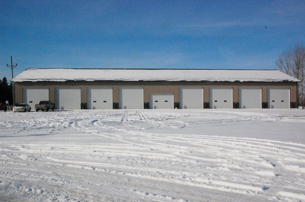 The Roseau County Highway Maintenance Department and the City of Greenbush teamed up to make this new 12,636 square foot city-county shop building, located on the corner of County Roads 4 and 7 in Greenbush, a reality and hope to move into it sometime this month. (photo by Ryan Bergeron)