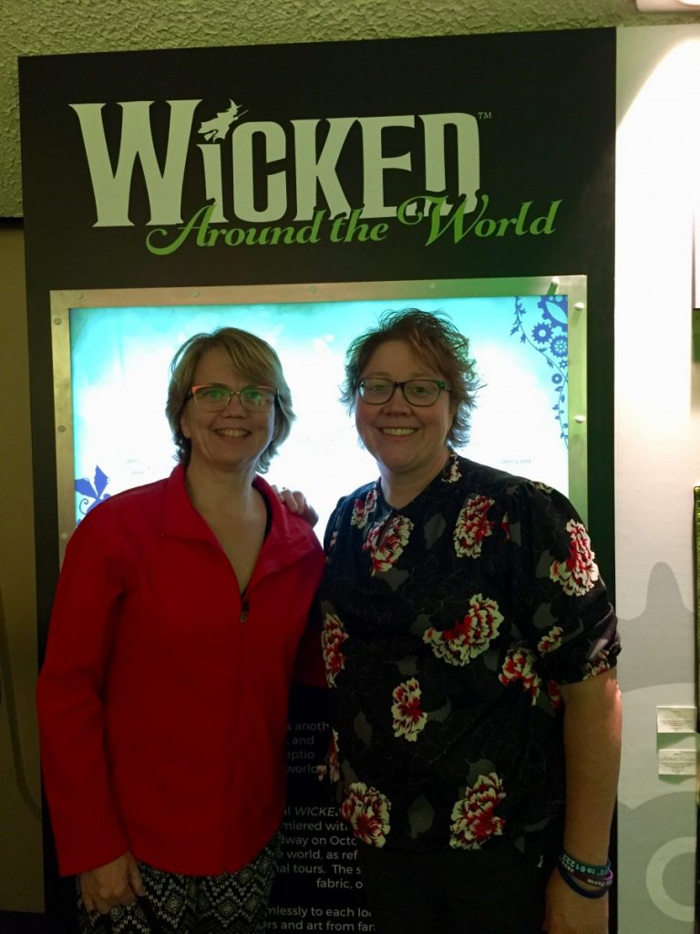 """submitted photo GMR English teacher Tina Taus (right) took in the musical """"Wicked"""" with her friend Caron Alten during their trip to New York City for the city's annual marathon, which took place on November 5, 2017."""
