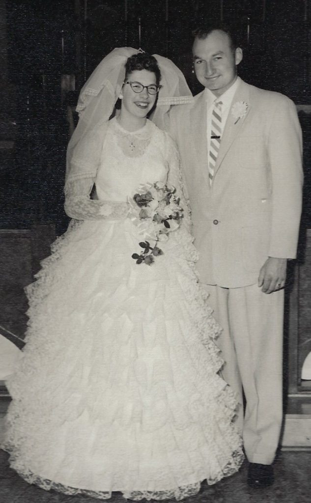 Mr. and Mrs. Robert (Marian Troskey) Dybedahl on October 26, 1959.