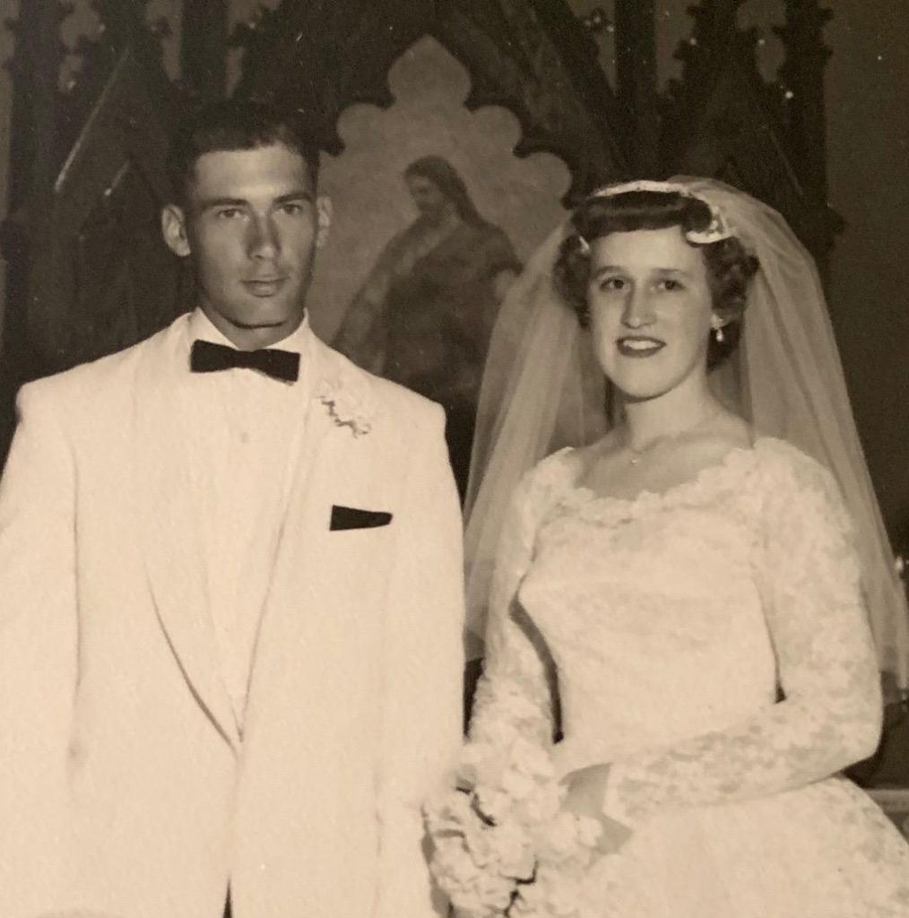 Mr. and Mrs. Anderson on their wedding day June 18, 1960.
