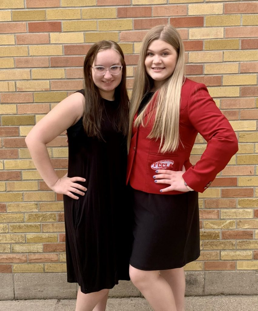 McKenna Bennett and Bella Burkel found out in late March that they earned FCCLA state office positions. Burkel had earned the FCCLA State Vice-President position and Bennett the State Treasurer position. Bennett also advanced to the National FCCLA Conference with her STAR Event project. (submitted photo)