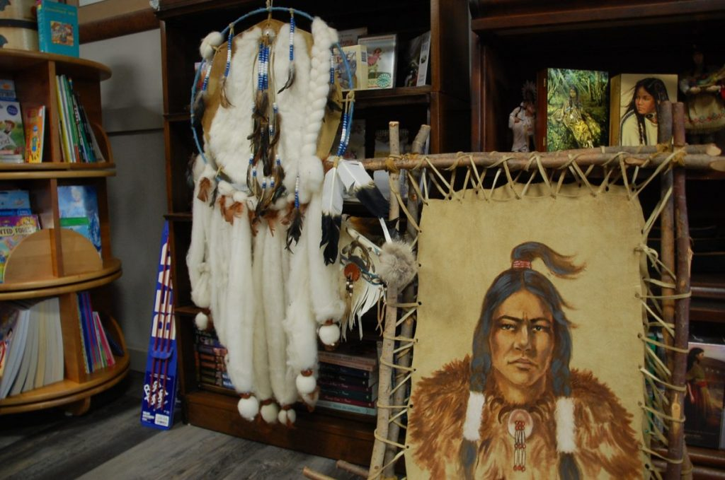 """A new store in Karlstad, """"Whispers of the Past"""" includes these Native American pieces. The store is open Monday through Thursday from 9 am to 5 pm along Main Street in Karlstad-- connected to the North Star News building. (photo by Ryan Bergeron)"""